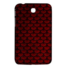Scales3 Black Marble & Red Grunge Samsung Galaxy Tab 3 (7 ) P3200 Hardshell Case  by trendistuff