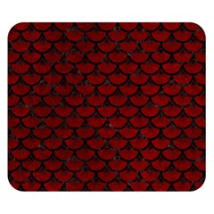 Scales3 Black Marble & Red Grunge Double Sided Flano Blanket (small)  by trendistuff
