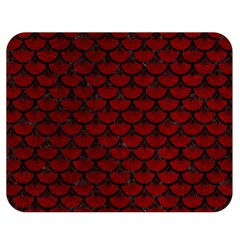 Scales3 Black Marble & Red Grunge Double Sided Flano Blanket (medium)  by trendistuff