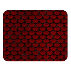 Scales3 Black Marble & Red Grunge Double Sided Flano Blanket (large)  by trendistuff