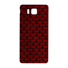 Scales3 Black Marble & Red Grunge Samsung Galaxy Alpha Hardshell Back Case by trendistuff
