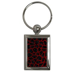 Skin1 Black Marble & Red Grunge Key Chains (rectangle)  by trendistuff
