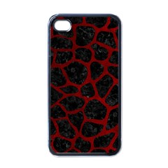 Skin1 Black Marble & Red Grunge Apple Iphone 4 Case (black) by trendistuff