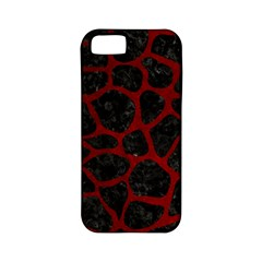 Skin1 Black Marble & Red Grunge Apple Iphone 5 Classic Hardshell Case (pc+silicone) by trendistuff