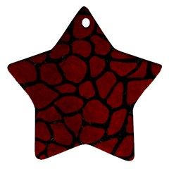 Skin1 Black Marble & Red Grunge (r) Star Ornament (two Sides) by trendistuff