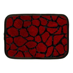 Skin1 Black Marble & Red Grunge (r) Netbook Case (medium)  by trendistuff
