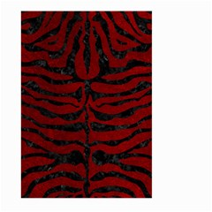 Skin2 Black Marble & Red Grunge Large Garden Flag (two Sides) by trendistuff