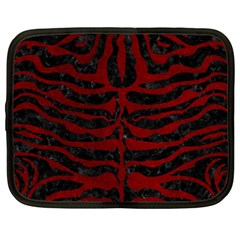 Skin2 Black Marble & Red Grunge (r) Netbook Case (xxl)  by trendistuff