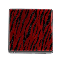 Skin3 Black Marble & Red Grunge Memory Card Reader (square) by trendistuff