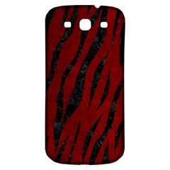 Skin3 Black Marble & Red Grunge Samsung Galaxy S3 S Iii Classic Hardshell Back Case by trendistuff