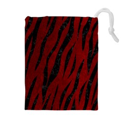Skin3 Black Marble & Red Grunge Drawstring Pouches (extra Large) by trendistuff