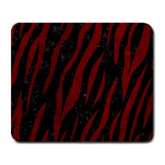 Skin3 Black Marble & Red Grunge (r) Large Mousepads by trendistuff