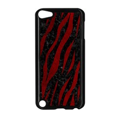Skin3 Black Marble & Red Grunge (r) Apple Ipod Touch 5 Case (black)