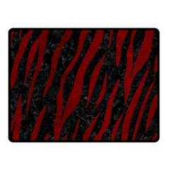 Skin3 Black Marble & Red Grunge (r) Double Sided Fleece Blanket (small)  by trendistuff