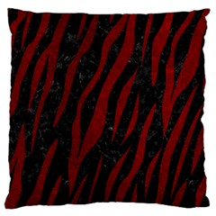 Skin3 Black Marble & Red Grunge (r) Standard Flano Cushion Case (one Side) by trendistuff