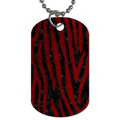 Skin4 Black Marble & Red Grunge Dog Tag (two Sides) by trendistuff