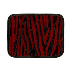 Skin4 Black Marble & Red Grunge Netbook Case (small)  by trendistuff