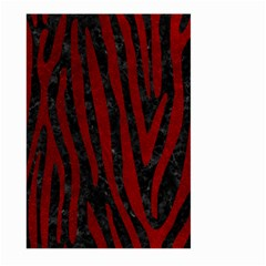 Skin4 Black Marble & Red Grunge Large Garden Flag (two Sides) by trendistuff