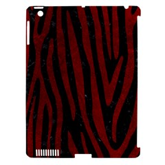 Skin4 Black Marble & Red Grunge Apple Ipad 3/4 Hardshell Case (compatible With Smart Cover) by trendistuff
