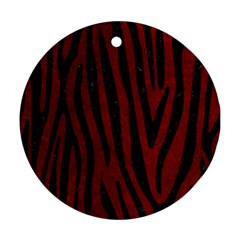 Skin4 Black Marble & Red Grunge (r) Round Ornament (two Sides) by trendistuff
