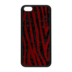 Skin4 Black Marble & Red Grunge (r) Apple Iphone 5c Seamless Case (black) by trendistuff