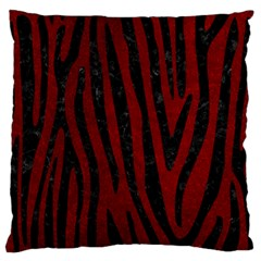 Skin4 Black Marble & Red Grunge (r) Large Flano Cushion Case (one Side) by trendistuff