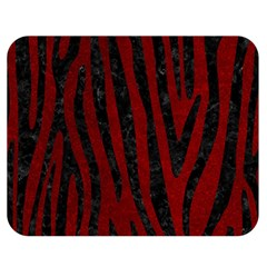 Skin4 Black Marble & Red Grunge (r) Double Sided Flano Blanket (medium)  by trendistuff