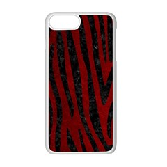 Skin4 Black Marble & Red Grunge (r) Apple Iphone 7 Plus White Seamless Case by trendistuff