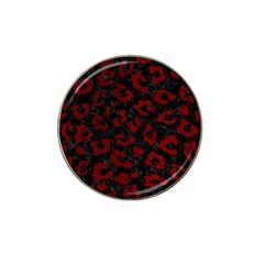 Skin5 Black Marble & Red Grunge Hat Clip Ball Marker (4 Pack) by trendistuff