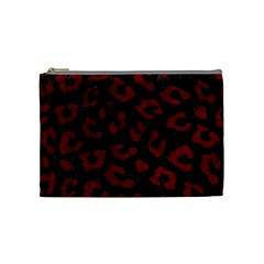 Skin5 Black Marble & Red Grunge Cosmetic Bag (medium)  by trendistuff