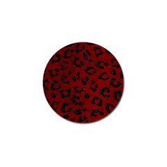 Skin5 Black Marble & Red Grunge (r) Golf Ball Marker (4 Pack) by trendistuff