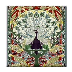 Art Nouveau Peacock Tile Coasters by 8fugoso