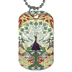 Art Nouveau Peacock Dog Tag (one Side) by 8fugoso