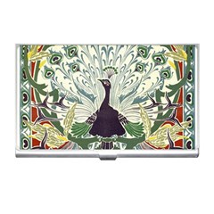 Art Nouveau Peacock Business Card Holders by 8fugoso