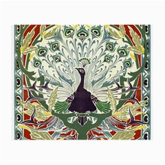 Art Nouveau Peacock Small Glasses Cloth (2 Side) by 8fugoso