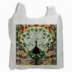 Art Nouveau Peacock Recycle Bag (one Side) by 8fugoso