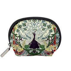 Art Nouveau Peacock Accessory Pouches (small)  by 8fugoso