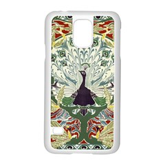 Art Nouveau Peacock Samsung Galaxy S5 Case (white) by 8fugoso