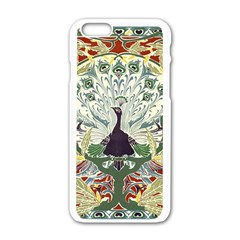 Art Nouveau Peacock Apple Iphone 6/6s White Enamel Case by 8fugoso