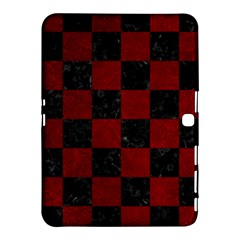 Square1 Black Marble & Red Grunge Samsung Galaxy Tab 4 (10 1 ) Hardshell Case  by trendistuff