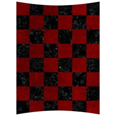 Square1 Black Marble & Red Grunge Back Support Cushion by trendistuff