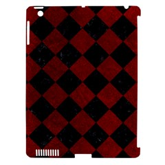 Square2 Black Marble & Red Grunge Apple Ipad 3/4 Hardshell Case (compatible With Smart Cover) by trendistuff