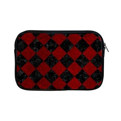 Square2 Black Marble & Red Grunge Apple Ipad Mini Zipper Cases by trendistuff
