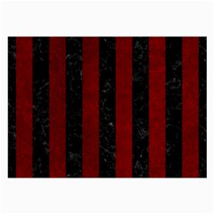 Stripes1 Black Marble & Red Grunge Large Glasses Cloth (2 Side) by trendistuff