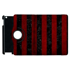 Stripes1 Black Marble & Red Grunge Apple Ipad 3/4 Flip 360 Case by trendistuff