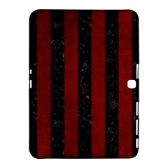 Stripes1 Black Marble & Red Grunge Samsung Galaxy Tab 4 (10 1 ) Hardshell Case  by trendistuff