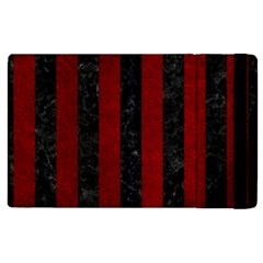 Stripes1 Black Marble & Red Grunge Apple Ipad Pro 12 9   Flip Case by trendistuff