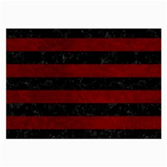 Stripes2 Black Marble & Red Grunge Large Glasses Cloth (2 Side) by trendistuff