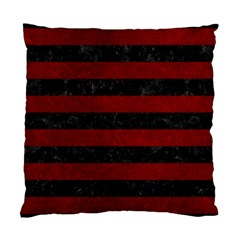 Stripes2 Black Marble & Red Grunge Standard Cushion Case (two Sides) by trendistuff