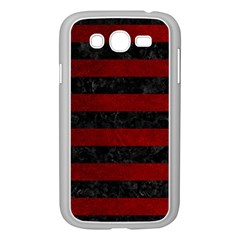 Stripes2 Black Marble & Red Grunge Samsung Galaxy Grand Duos I9082 Case (white) by trendistuff